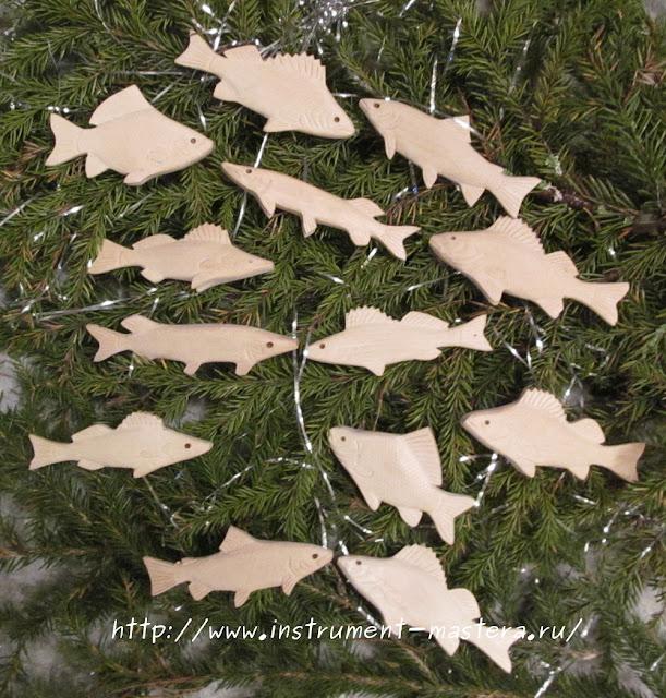 заготовки для елочных игрушек из дерева