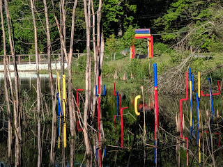 "colored PVC piping was added to the Sculpture Park ""trees of life"" 4"
