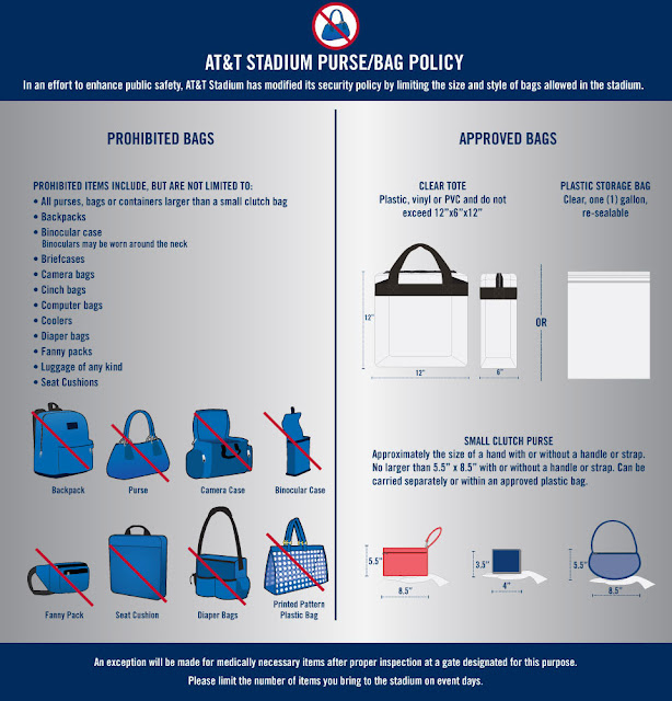 nfl bag policy, nfl purse policy, cowboys stadium bag policy, cowboys stadium purse policy