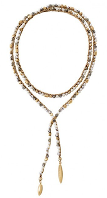Stella & Dot Zoe Lariat Necklace - Gold - as seen on Holly Robinson Peete