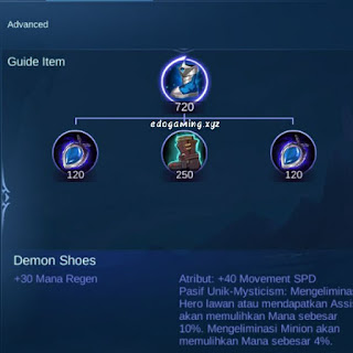 penjelasan lengkap item mobile legends item demon shoes