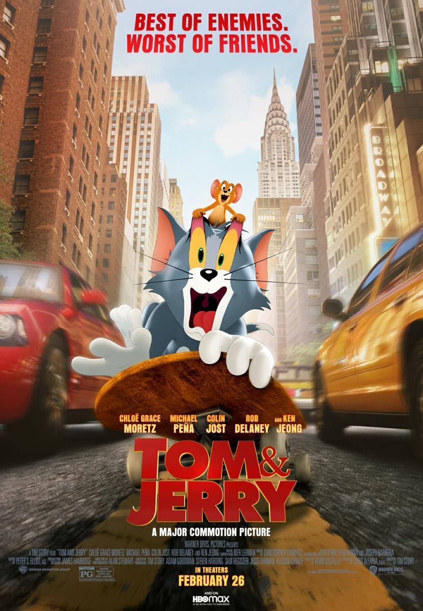 Download Tom and Jerry (2021) Full Movie in Hindi Dual Audio BluRay 720p [1GB]