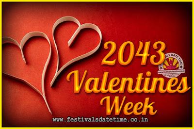 2043 Valentine Week List : 2043 Valentine Week Schedule, Hug Day, Kiss Day, Valentine's Day 2043