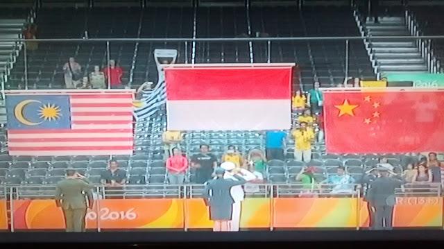 Bendera Merah Putih Berkibar di Olimpiade Rio 2016