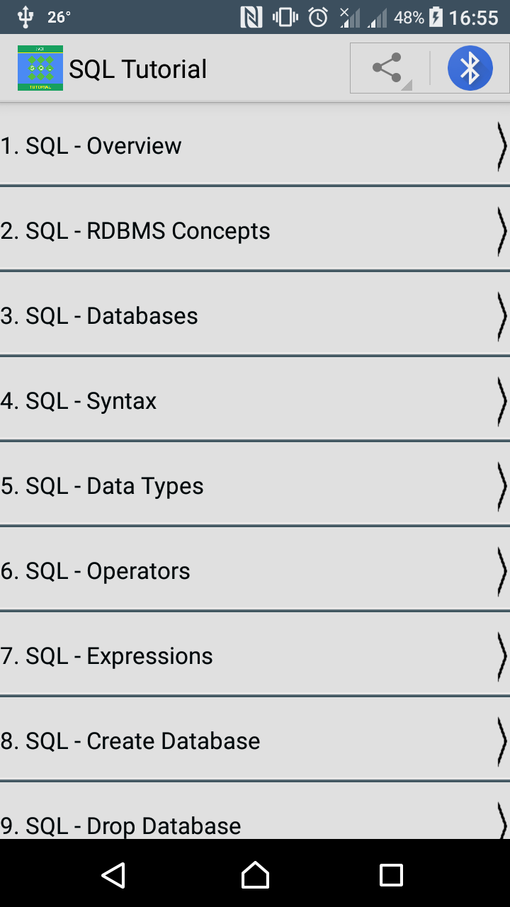 Sql tutorial free app learning this tutorial will give you a quick start to sql it covers most of the topics required for a basic understanding of sql and to get a feel of how it works baditri Image collections