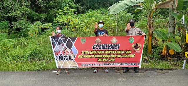 Polsek Awang Laksanakan Sosialisasi Saber Pungli
