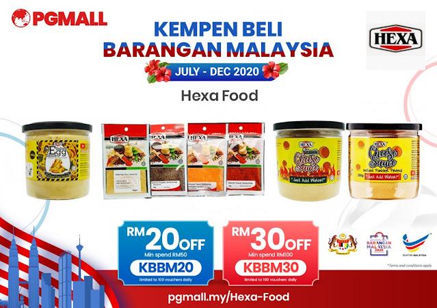 PG Mall Malaysia Online Shopping 11.11 Penang Blogger Influencer Malaysia #barangbaikbarangkita kempen beli barangan malaysia hexa food