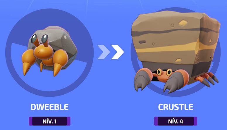Pokémon Unite - Evolução de Crustle