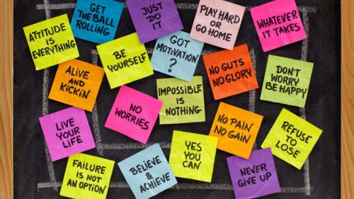 Sticky notes with quotes