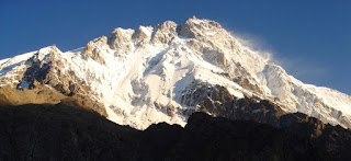 The Rupal face of Nanga Parbat in the Himalayas, on the  descent from which Messner's brother Gunther sadly died