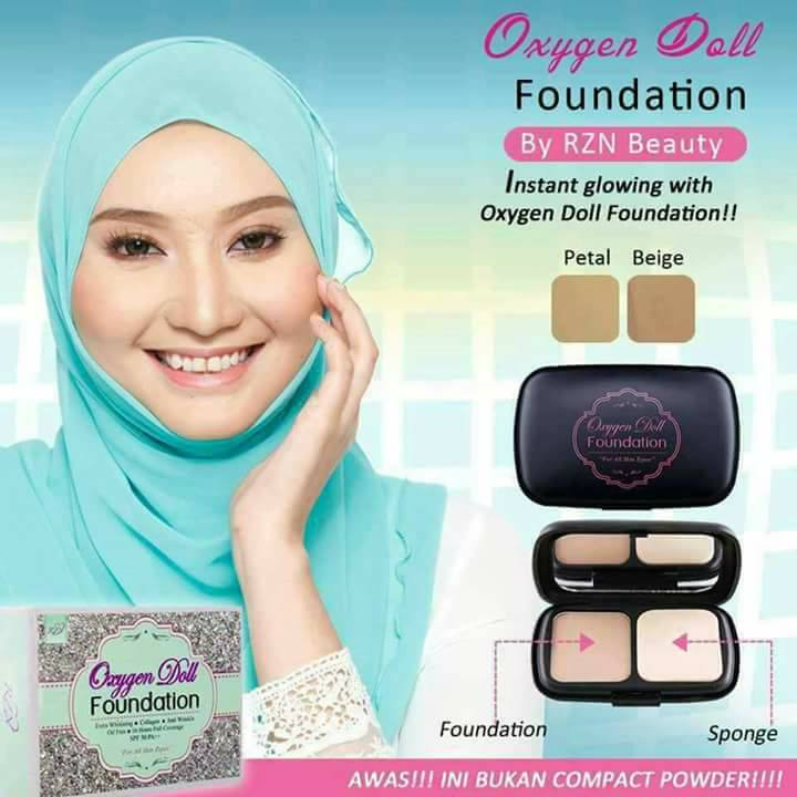 Kelebihan Oxygen Doll Foundation By RZN Beauty