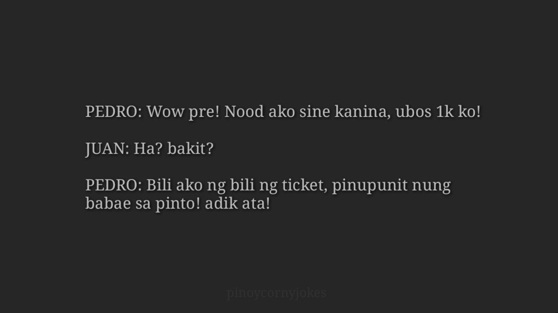 Nakakatawang Jokes - Nood ng Sine