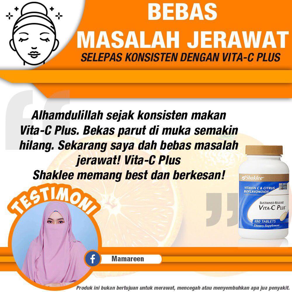 Testimoni Vitamin C Shaklee : Jerawat & Parut Dah Hilang