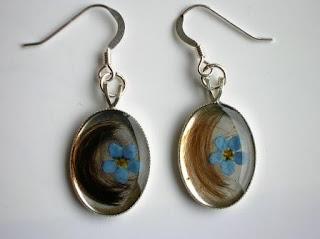 Sterling silver hanging earrings for hair