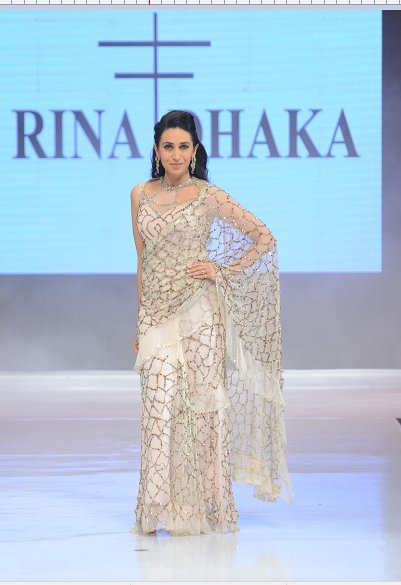 Karishma Kapoor in Rina Dhaka Outfit.
