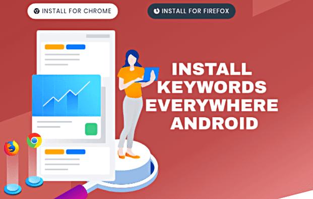 Use Keywords Everywhere mobile