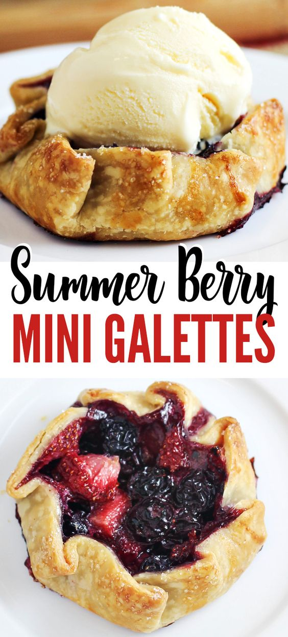 Mini Summer Berry Galettes