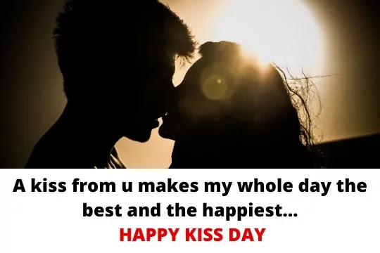 A legal kiss is never as good as a stolen one.Happy Kiss Day
