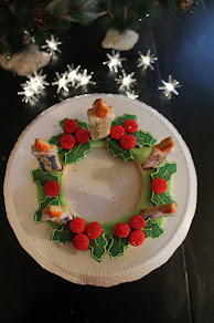 Advent Cookie Wreath