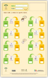 Ficha interactiva: Dobles y Mitades ABN.