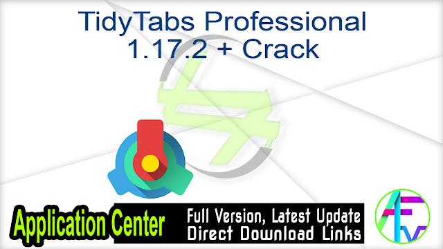 TidyTabs Professional 1.17.2 + Crack