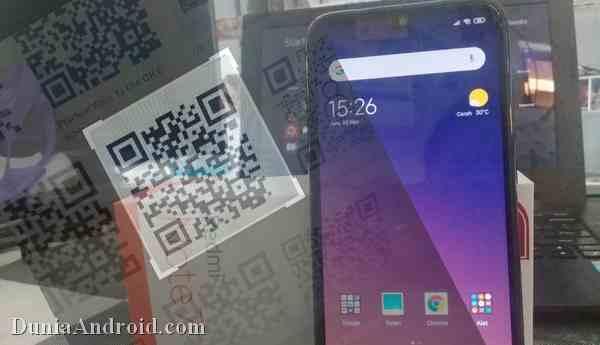 Membuka QR code dengan Aplikasi Bawaan Redmi