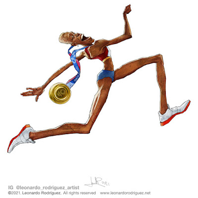Yulimar Rojas - women's triple jump - world cartoon