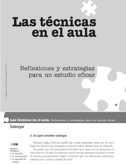 Las técnicas en el aula - Reflexiones y estrategias para un estudio eficaz