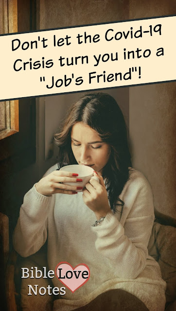 God rebuked Job's friends for a belief that many Christians hold now. In fact, some churches focus on this false teaching. This 1-minute devotion explains. #BibleLoveNotes #Biblestudy