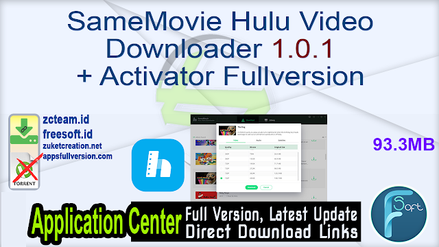 SameMovie Hulu Video Downloader 1.0.1 + Activator Fullversion
