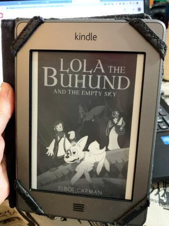 Lola the Buhund and the empty sky - book cover on Kindle