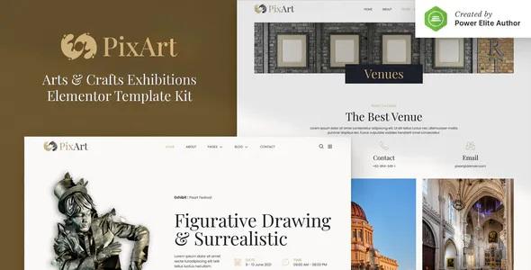 Best Arts & Crafts Exhibition Elementor Template Kit