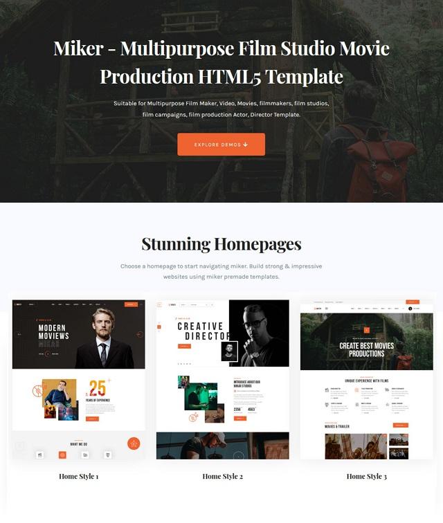 Movie and Film Studio HTML5 Template