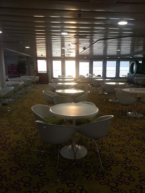 Inside Wightlink Ferry