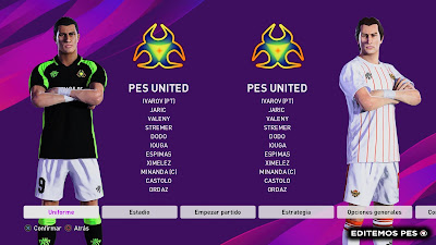 eFootball PES 2020 PS4 Option File PES United by EditemosPES