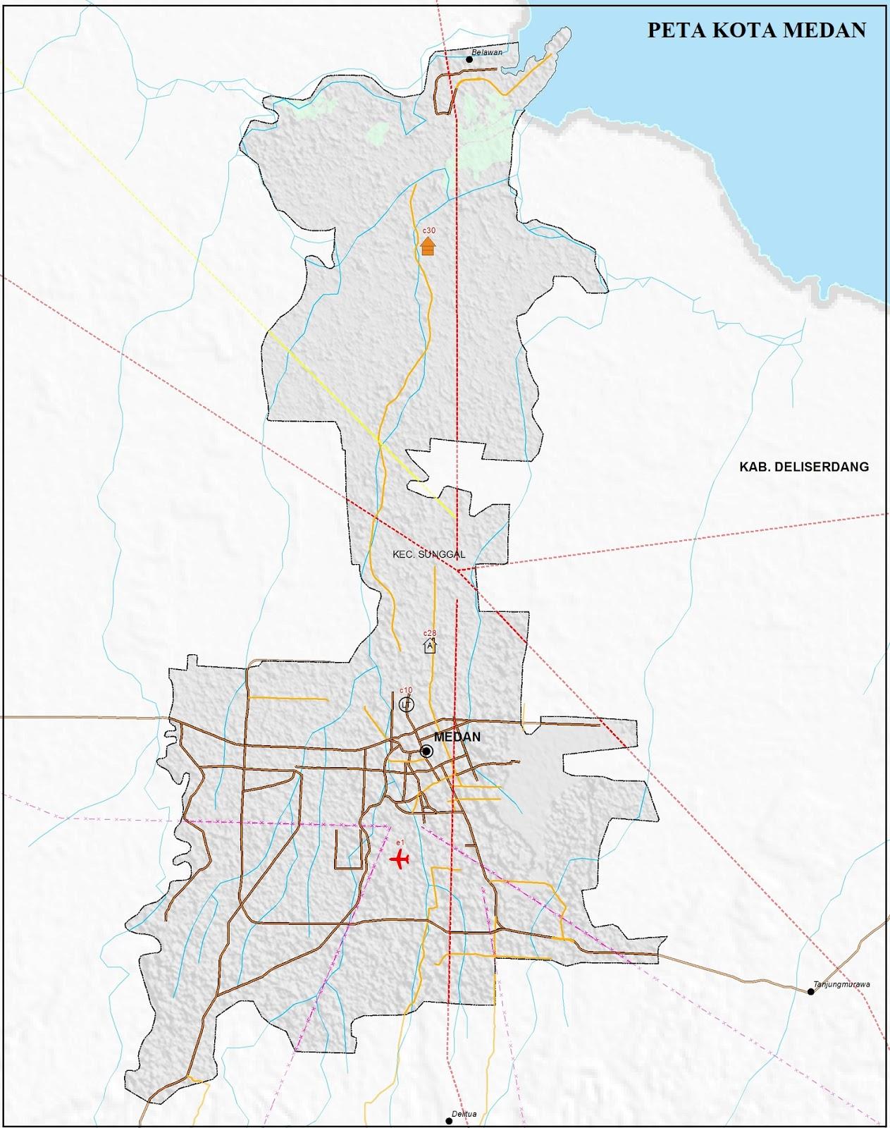 Peta Jalan di Kota Medan