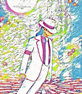 Painted MJ Turned Digital Art