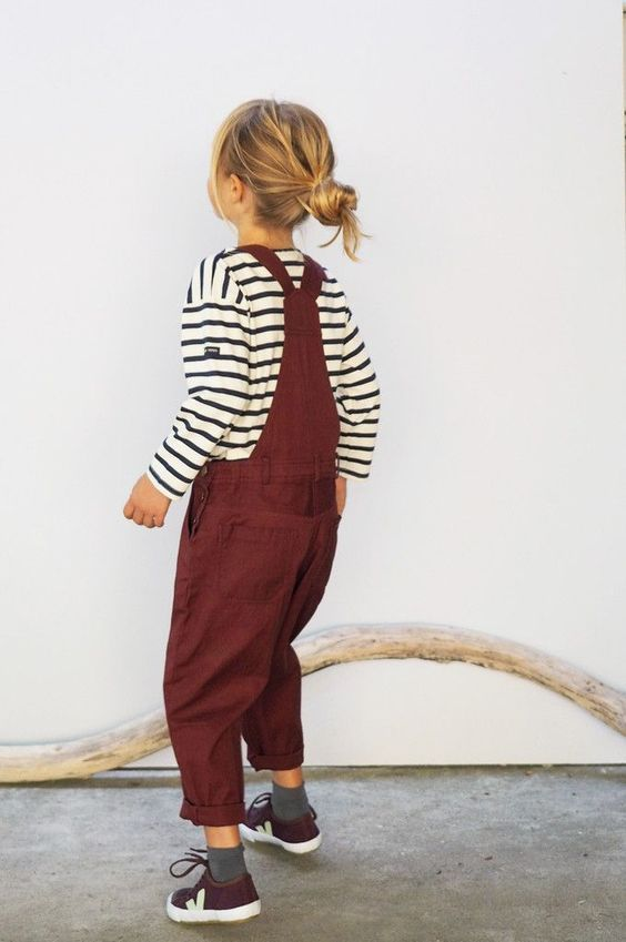 Stripes T-Shirt and Overall Image 21