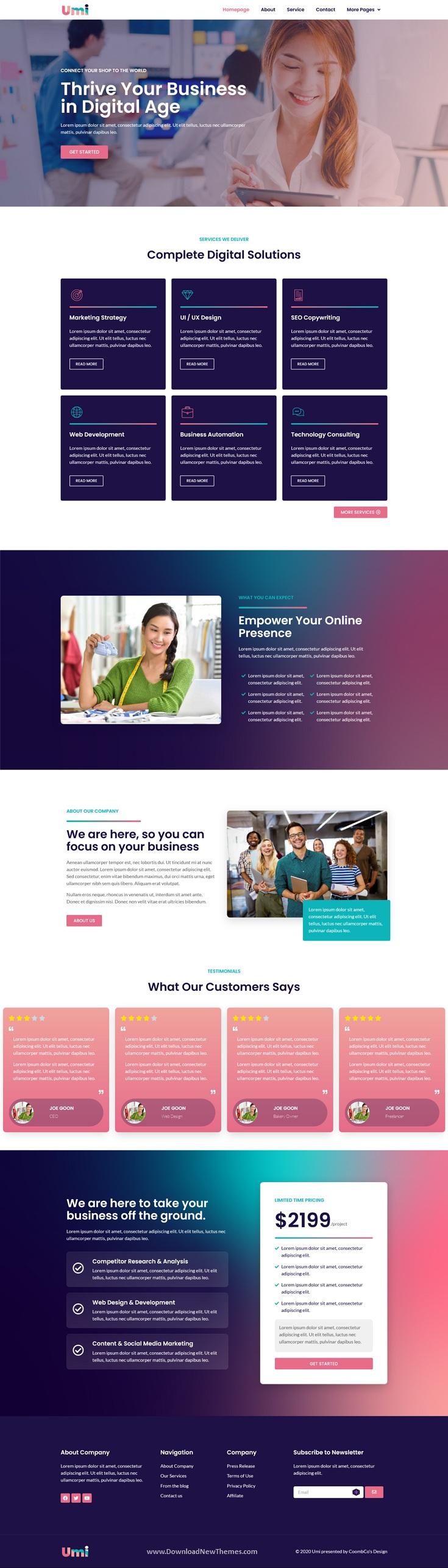 Web Design Agency Elementor Template Kit