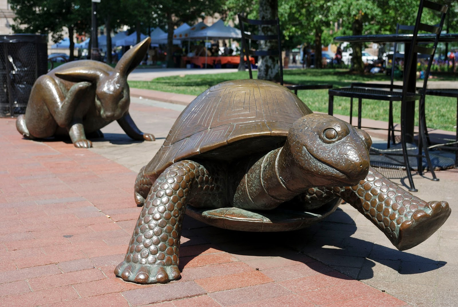 hare rabbit tortoise turtle statue copley square trinity church boston itinerary plan guide tourism usa america park east coast