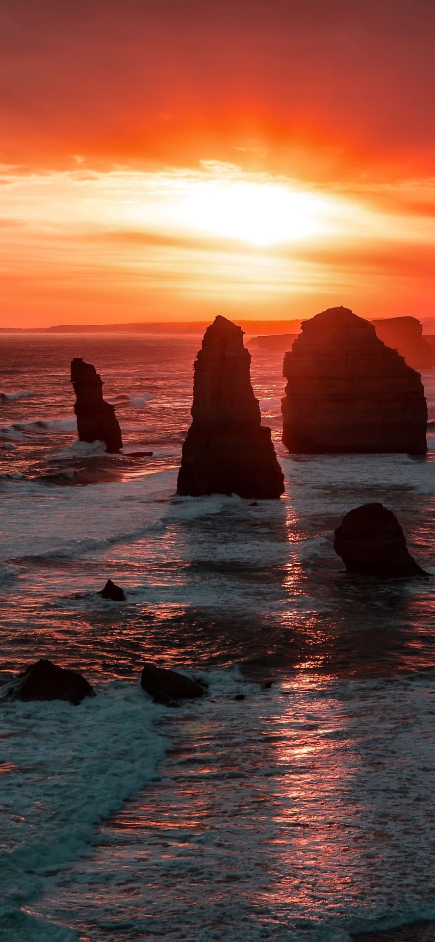 The twelve apostles australia sunset mobile wallpaper