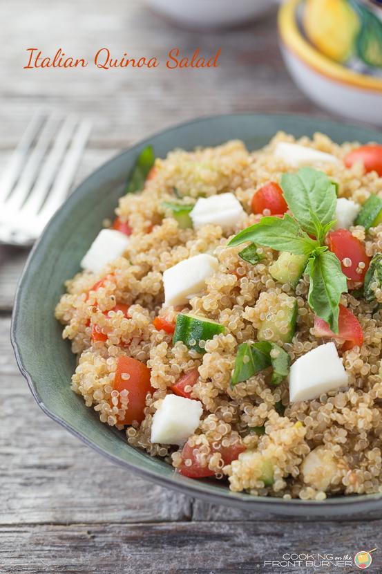 Italian Quinoa Salad | Cooking on the Front Burner