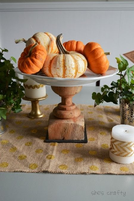 How to make a DIY Cake Plate for the Thanksgiving Table