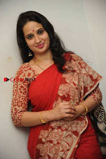 Kannada Actress Lakshmi Hegde Pos in Red Saree at Tab Movie Press Meet  0003.jpg