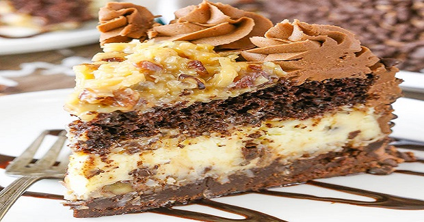 Outrageous Chocolate Coconut Cheesecake Cake Recipe