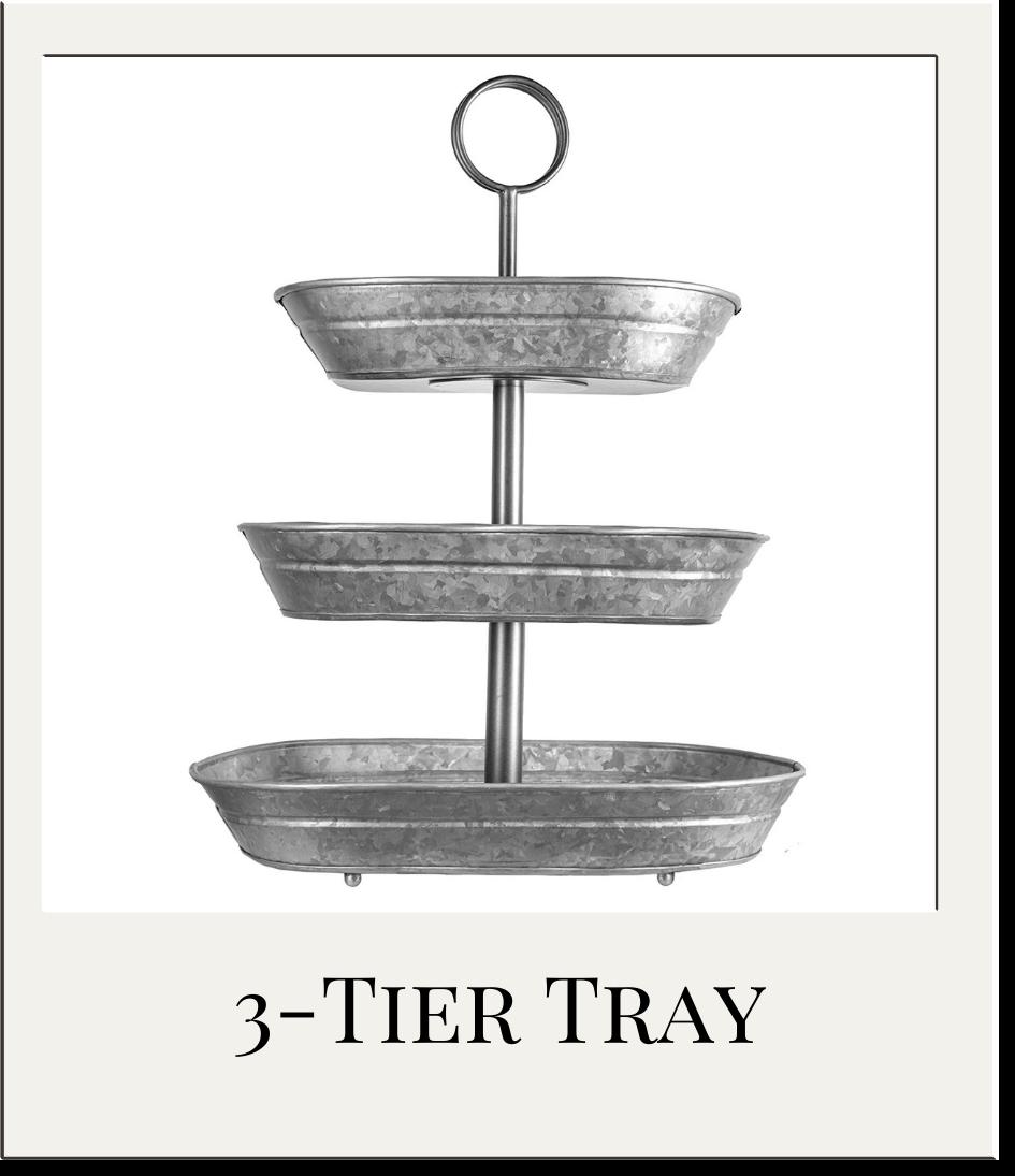 3 Tier Galvanized Metal Tray