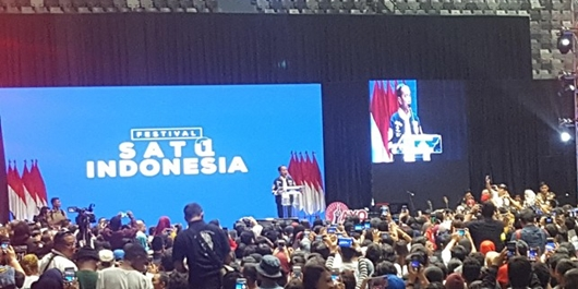 Jokowi Sebut Nama Ahok, Massa Festival Satu Indonesia Bergemuruh