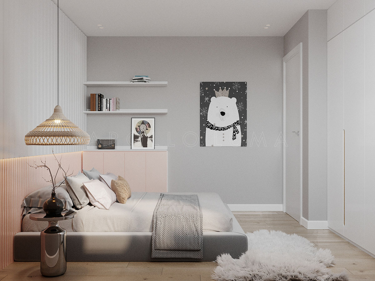 Thiết kế căn hộ 2 phòng ngủ Berriver Jardin Long Biên