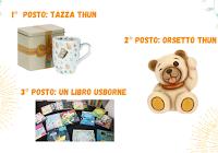 Logo Vinci gratis Orsetto Thun, Libro Usborne e Tazza Thun! come partecipare