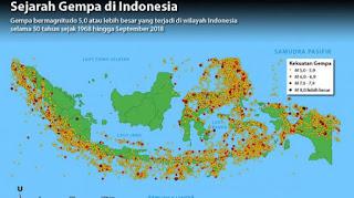 Jumlah Gempa Selama 2018 Lebih Banyak 4.648 Kejadian Dibanding 2017